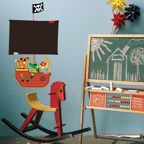 Children Baby Kids Room Removable Seagoing Vessel Ship Blackboard Chalk Wallpaper Decal Decoration
