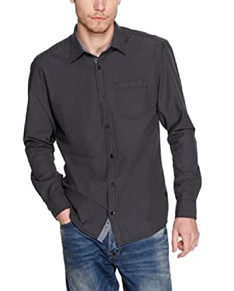 s.Oliver Herren Regular Fit Freizeithemd 13.402.21.7504, Gr. XX-Large, Grau (dark metal stripes)