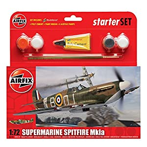 Airfix A55100 Supermarine Spitfire MkIA 1:72 Scale Model Small Starter Set