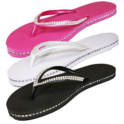 sugar-islandrladies-girls-diamante-flip-flops-sandals-blk-7-8