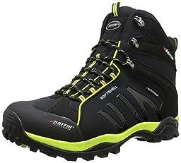 Baffin Men\'s Zone Hiking Boot,Black/Fluorescent Green,9 M US