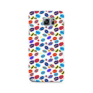Ebby All Superheroes on white clipart Premium Printed Case For Samsung Note 5