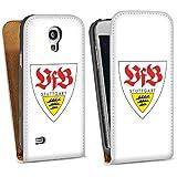 Handy Design Tasche Hülle Case für VFB Stuttgart Galaxy S4 mini i9195 - DesignTasche Downflip white - Samsung