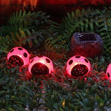 Solar Ladybird Led Lights With 4 Lights