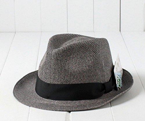 (カスターノ) castano 洗えるストロー中折れハット 152-132218 03.グレー 62cm あらえる ペーパーサークル ハット 水洗い 手洗い ストローハット 麦わら帽子 ブレードハット 大きいサイズ Lサイズ XLサイズ 3Lサイズ フェスハット メンズ 男性 紳士 春夏 帽子