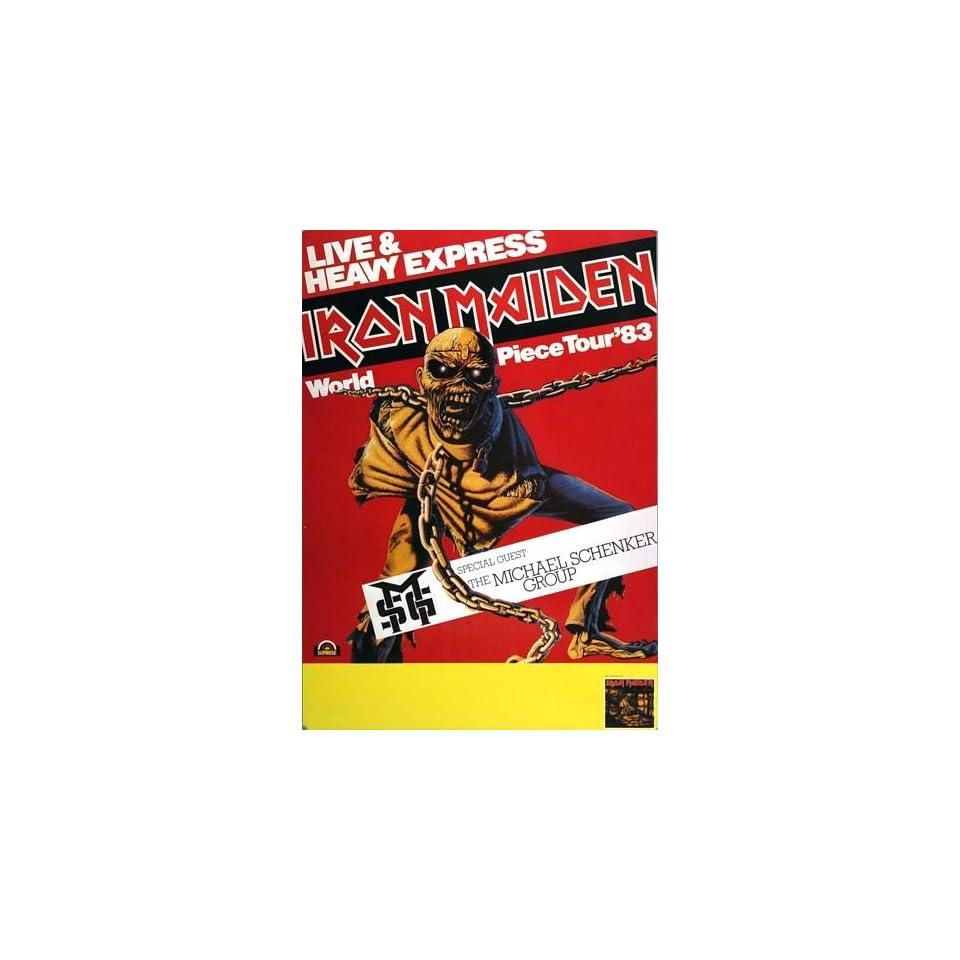 Iron Maiden World Piece 1983   original concert poster