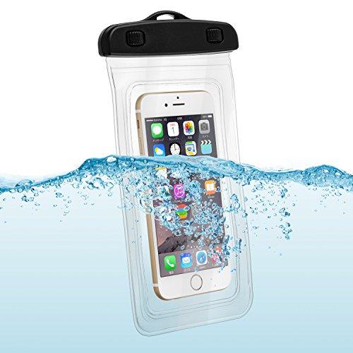 スマートフォン用 ネックストラップ付き 防水 ケース クリア for iPhone 6 iPhone 5 5s Xperia z3 Xperia z4 Galaxy