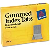 Avery Gummed Index Tabs, 0.43 x 1.1875 Inches, 50 Tabs (59105)