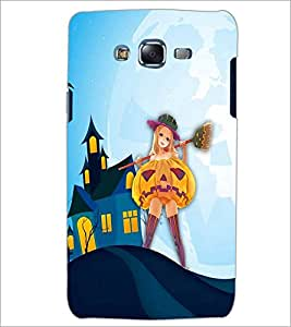 PrintDhaba Girl with Broom D-3288 Back Case Cover for SAMSUNG GALAXY ON 5 (Multi-Coloured)