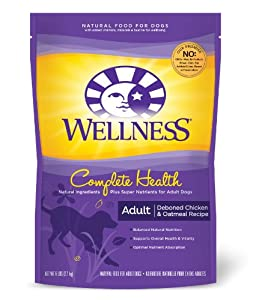Wellness Complete Health Natural Dry Dog Food, Deboned Chicken and Oatmeal Recipe, 6-Pound Bag