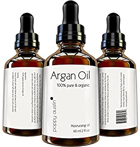 Poppy Austin® 100% PURE ARGAN OIL for Hair and Skin. An Exquisite, Luxurious and Triple Purified Moroccan Argan Oil, Made by Hand, Cold Pressed and Responsibly Sourced using the only the very Finest yet Sustainable Organic Argan Nuts. See IMMEDIATE Resul
