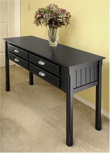 Image of Console / Hall Table with -4- Drawers (B0014GBXJQ)