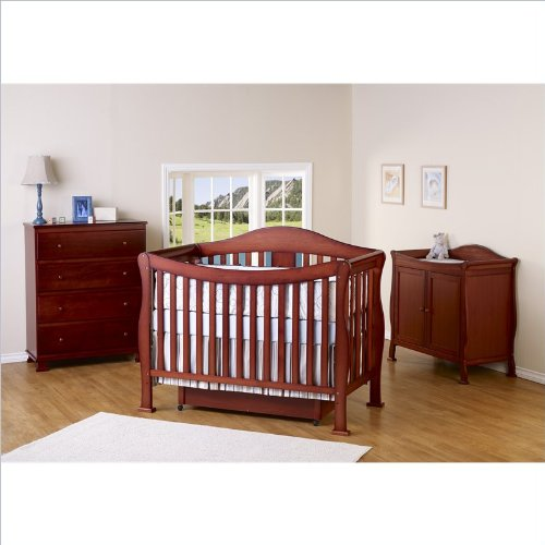 Great Deal! DaVinci Parker 3 Piece Convertible Crib Nursery Set w/ Toddler Rails in Cherry