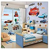 Disney Pixar Cars Peel & Stick Wall Decal - Easy Wall Sticker Decal Room Decor