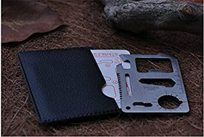 11 in 1 Credit Card Wallet Knife. Stainless Steel Survival Multitool Utility. from Generic