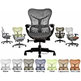 Herman Miller Mirra Home Office Chair - Deluxe Fully Adjustable Graphite with forward tilt seat angle MR223