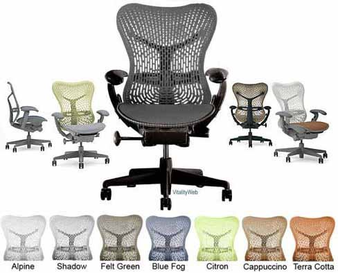 herman miller mirra home office chair deluxe fully adjustable