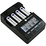 Ambient Weather BC-2000 Intelligent Battery Charger for AA/AAA Rechargeable Batteries