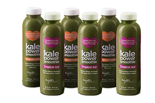 Kale Power 3-day Cleanse for Daily Health Ritual - Green Smoothie Meals (Mixed Flavor 6 Count: 3 Tropical Flavor and 3 Tropical Protein Flavor with Adaptogens) (Ritual Juice compare prices)