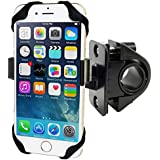 ChargerCity Harness Strap Security Bike Motorcycle Handlebar Roll Bar Mount for Smart Phones, Apple iPhone 6 Plus 5S Samsung Galaxy Note 5 4 S6 6S Edge LG G4 G3 (Works on GPS & Free selfie Connect)