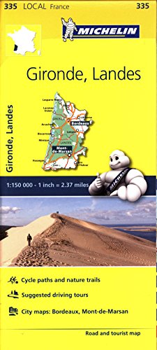Mapa Local Gironde, Landes (Michelin Local Maps)