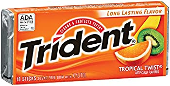 12-Pack of Trident Sugar Free Tropical Twist Gum (18-Piece)