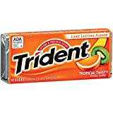 Trident Gum, Tropical Twist, 18-count (Pack of 12)