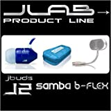 JBuds J2 Premium Hi-Fi Noise-Isolating Earbuds Style Headphones (White/Gray)