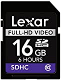 Lexar Full-HD 16GB Class 10 High Speed SDHC Video Memory Card