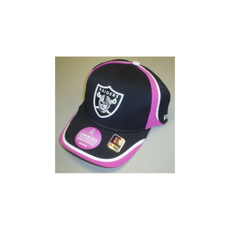 Oakland Raiders Breast Cancer Awareness Coaches Flex Reebok Hat S m ... 95586cea4