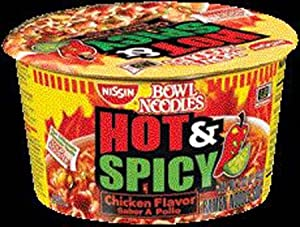Nissin Noodle Bowl Hot And Spicy Chicken 33 Ounce Pack Of 6 by Harbor Wholesale Grocery, Inc.