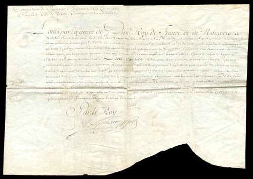 King Louis Xv (France) - Military Appointment Signed 10/1750
