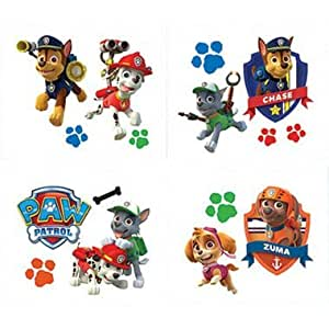 Paw patrol tattoos 16ct toys games for Paw patrol tattoos