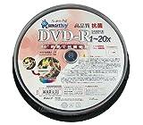 SMARTBUY  DVD-R 4.7GB 1回録画用 インクジェットプリンタワイドな印刷対応 1-20倍速 スピンドルケース 10枚入り 抗菌仕様 SR47-20X10PW
