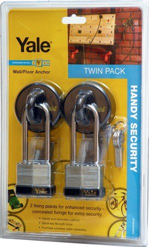 Yale Wall/Floor Anchor with Padlock...TWIN PACK