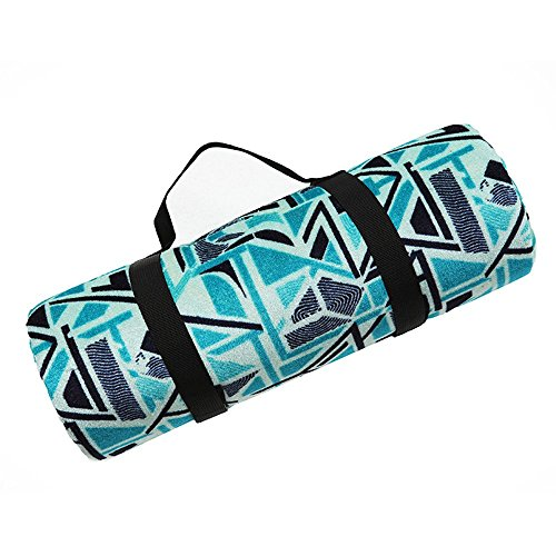 Zoophyter Lightweight Picnic Blanket with Waterproof/Sand-Resistant Backing & Easy to Tote