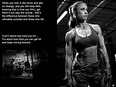 "Bodybuilding Fitness Motivation Motivational Fabric Cloth Rolled Wall Poster Print -- Size: (17"" x 13"")"