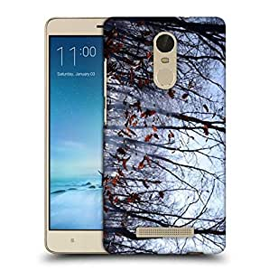 Snoogg Falling Dry Leaves Printed Protective Phone Back Case Cover For Xiaomi Redmi Note 3