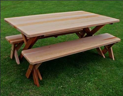Guide to get cross legged picnic table plans tukang kayu for Cross leg table plans