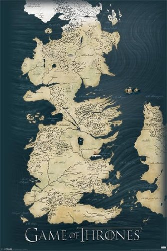 Game of Thrones Map TV Maxi Poster Print - 61x91 cm