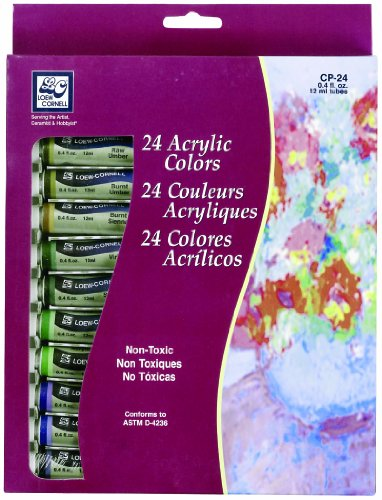 Sale alerts for Loew-Cornell Loew-Cornell Assorted 12-Milliliter Acrylic Paints 24-Pack - Covvet