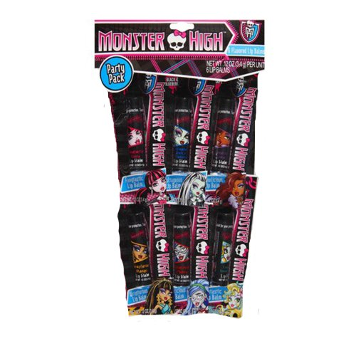Monster High 6 Flavored Lip Balms