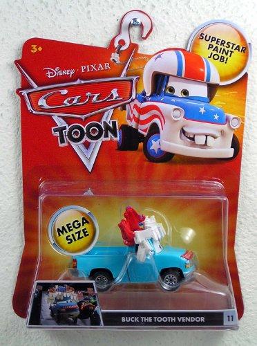 Disney / Pixar CARS TOON Oversized Die Cast Car Buck the Tooth Vendor