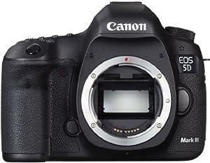 Canon EOS 5D Mark III SLR-Digitalkamera (22 Megapixel, CMOS-Sensor, 8,1 cm (3,2 Zoll) Display, DIGIC 5+ Prozessor) Gehäuse schwarz