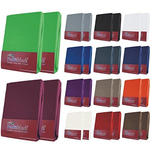 Boxspring-Spannbettlaken-Premium-Doppelpack-Doppelpack-180x200-bis-200x220-cm-Farbe-Sand-2x-Waschhandschuh-von-FalCo-gratis
