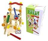知育玩具 木製おもちゃ 組み立て イス 大工さんセット 39ピース