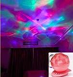 Red - Diamond shapes Aurora Projector Depressurize Mood Light LED Laser Show Lamp Night Light