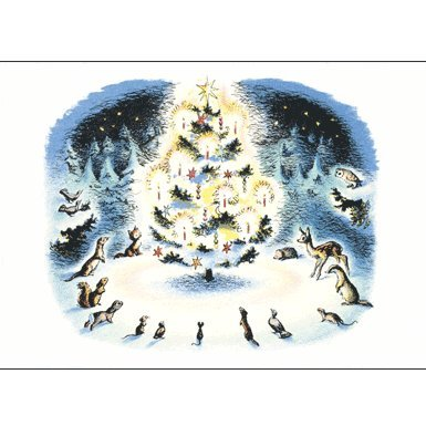 Woodland Christmas Pack of 10 Christmas Cards (Large Rectangle)||RF10F