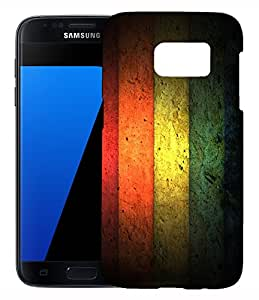 FCS Printed 3D Designer Hard Back Case For Samsung Galaxy S7 With Universal Mobile Stand