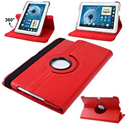 RKA 360 Rotating PU Leather Stand Case Cover For Samsung Galaxy Note 10.1 P600 2014 Edition Red